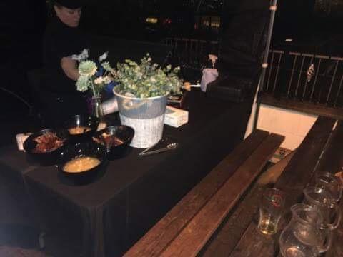 50th Birthday Hog Roast Set Up  In Wolstanton