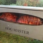 Hog Roast, Slow Cooked for 9 Hours.