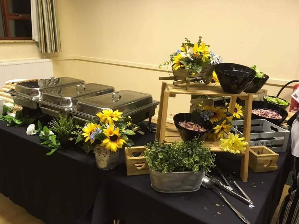 Hog Roast Set Up at Kegworth Village Hall