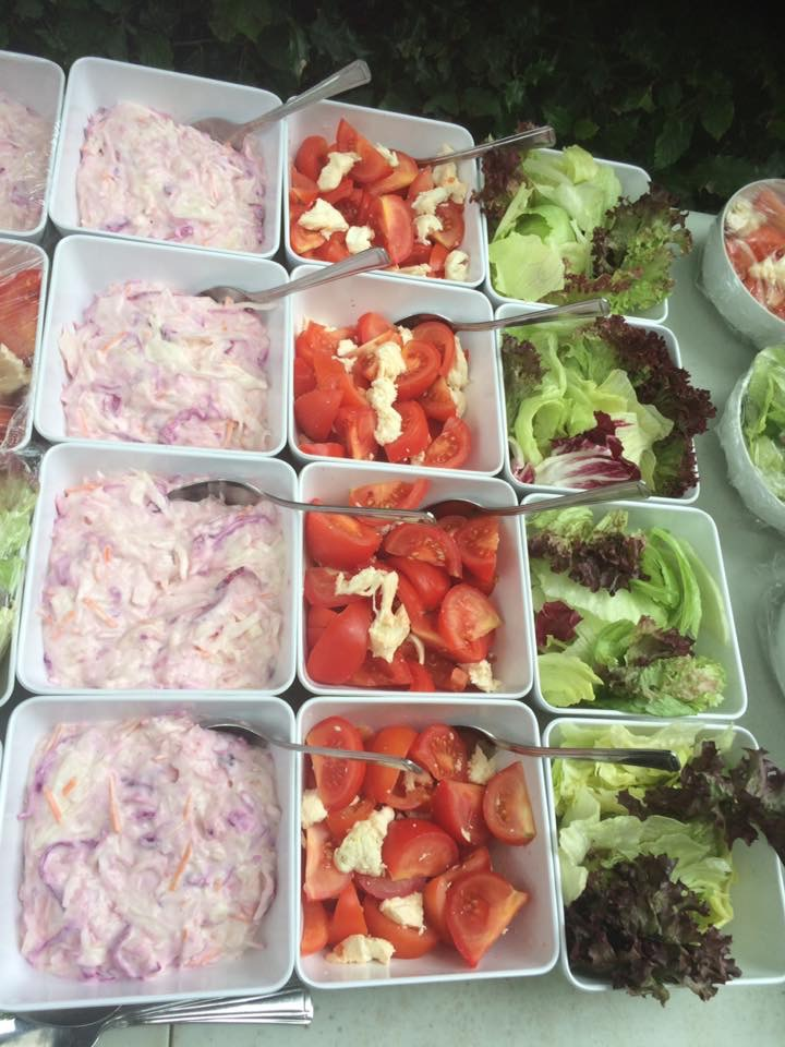 Coleslaw And Salad To Accompany The Hog